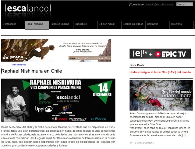 revista escalando chile