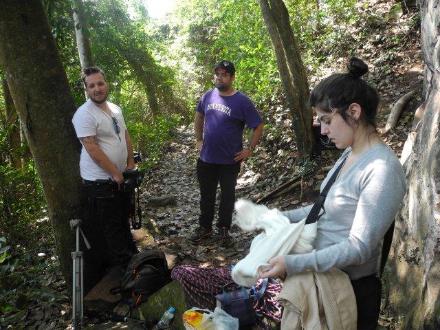 Renan, Normam e Marcela, galera que estão gravando um documentario