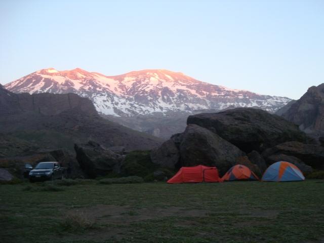 Vista do acampamento