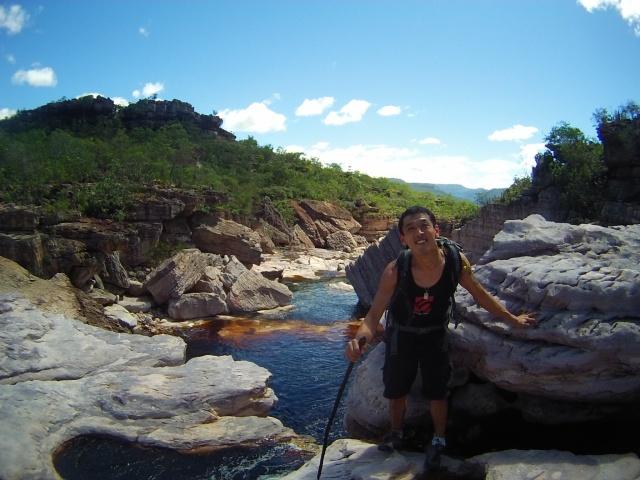 Um dos setores de escalada com vias, cachoeiras, psicobloc e muita vibe!