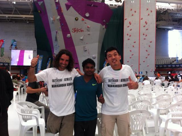 Urko da Espanha e Mani da India! Os monstros do paraclimb